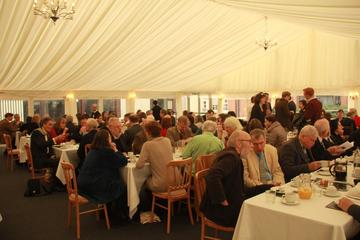 The packed Marquee from St Peter's enviable lunch spread
